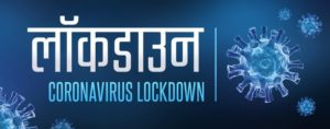 Coronavirus lockdown in India. COVID-19 concept. 3D illustration.